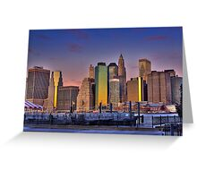 Downtown Manhattan at Sunrise Greeting Card