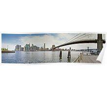 Downtown Manhattan Panorama 1 Poster