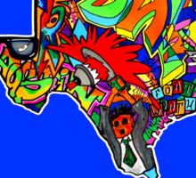 TEXAS STATE, Colorful Texas State cities, Fun Texas State icons, Texas State facts and everything about TEXAS State and Texas art Sticker