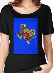 TEXAS STATE, Colorful Texas State cities, Fun Texas State icons, Texas State facts and everything about TEXAS State and Texas art Women's Relaxed Fit T-Shirt