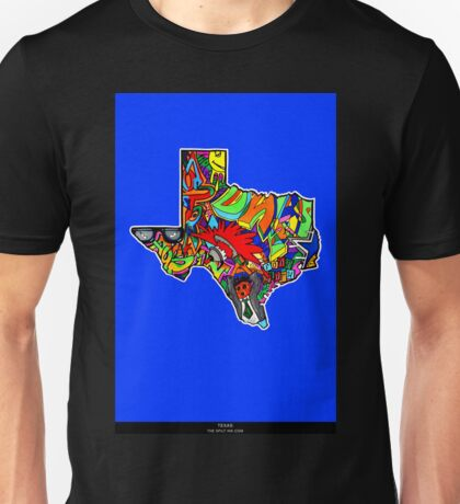 TEXAS STATE, Colorful Texas State cities, Fun Texas State icons, Texas State facts and everything about TEXAS State and Texas art Unisex T-Shirt