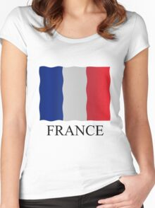 French flag Women's Fitted Scoop T-Shirt