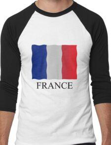 French flag Men's Baseball ¾ T-Shirt