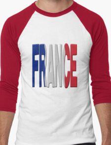 France flag Men's Baseball ¾ T-Shirt