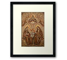 Detail of Mosaic in Ste Anne de Beaupre Basilica, Quebec Framed Print
