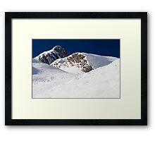 Winter in the Alps Framed Print