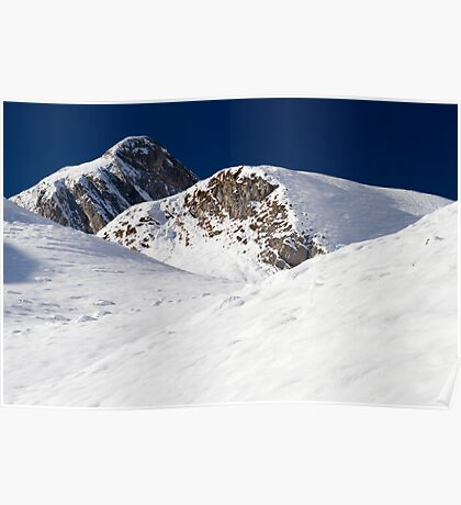 Winter in the Alps Poster