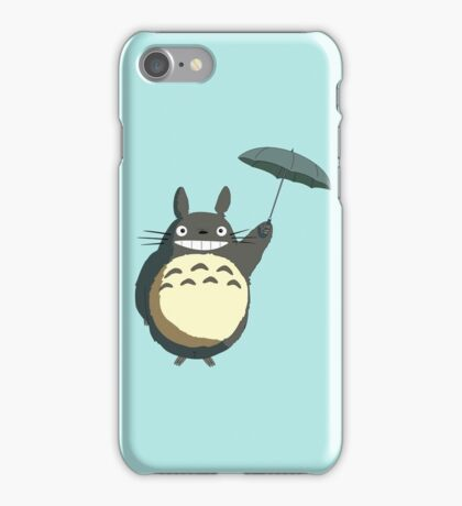 Flying totoro iPhone Case/Skin