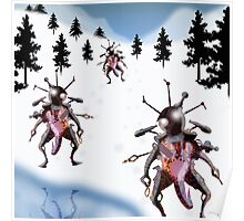 Observation Robots in Snow Poster