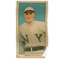 Benjamin K Edwards Collection Buck Herzog New York Giants baseball card portrait 001 Poster