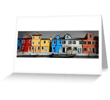 Burano, Venice Italy - 2 Greeting Card
