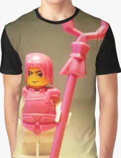 Pink Chinese Hero Warrior Custom Minifig Graphic T-Shirt