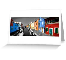 Burano, Venice Italy - 3 Greeting Card