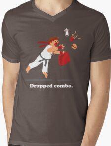 Dropped Combo Mens V-Neck T-Shirt
