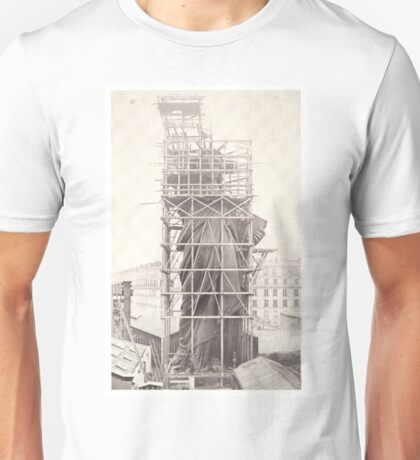 Construction of The Statue of Liberty Unisex T-Shirt