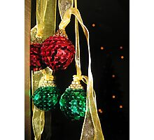 Sequined baubles Photographic Print