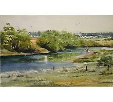 Fishing the South Esk at Clarendon Photographic Print