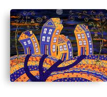 Midnight In Town - only the owls are watching! Canvas Print