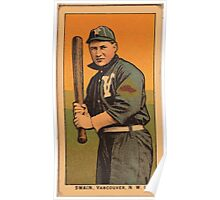 Benjamin K Edwards Collection Swain Vancouver Team baseball card portrait Poster