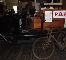 Old Car and Bicycle, Zara Clark Museum, Charters Towers, Qld by myhobby