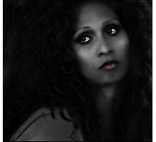 dark beauty (b/w version) Photographic Print