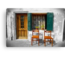 2 Chairs Burano, Venice Italy Canvas Print