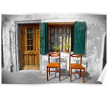 2 Chairs Burano, Venice Italy Poster