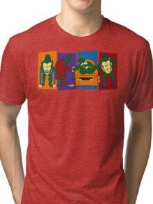 Elderly Mutant Retired Turtles Tri-blend T-Shirt