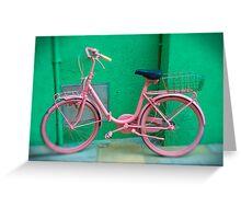 Pink Bike - Burano, Venice Italy  Greeting Card