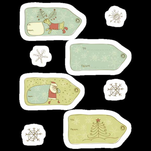 Xmas Gift Labels by Anastasiia Kucherenko
