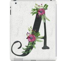 Letter A with Floral Wreaths iPad Case/Skin