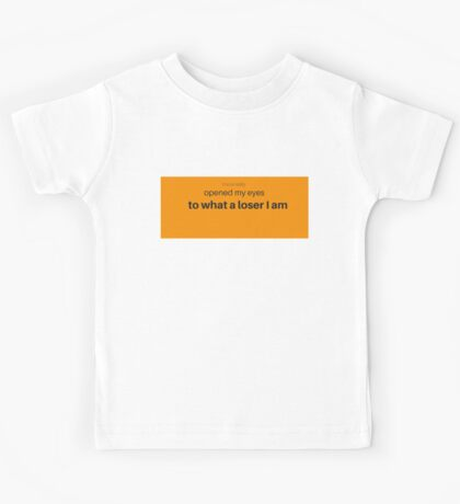 Sarcasm is the language of losers Kids Tee