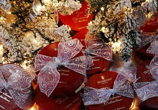 Waterford  gifts under the Tree by Marjorie Wallace