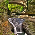 Watkins Glen Waterfalls Cascade II by Anthony L Sacco