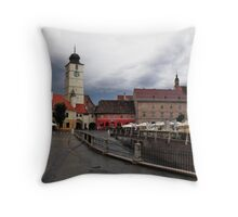 Stormy Afternoon Sibiu Transylvania Throw Pillow
