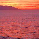 Orange Red Sunset -  Naranjo Rojo Atardecer  by PtoVallartaMex