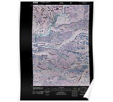 USGS Topo Map Washington State WA Foundation Ridge 20110506 TM Inverted Poster