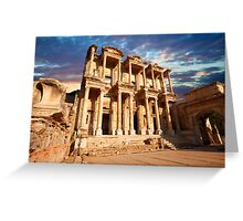 The Library of Celsus - Ephesus. Turkey Greeting Card