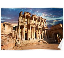 The Library of Celsus - Ephesus. Turkey Poster
