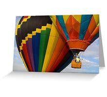 Hot Air Balloon Traffic Greeting Card