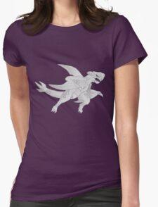 Garchomp - B&W by Derek Wheatley Womens Fitted T-Shirt