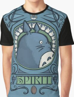 Forest Spirit Nouveau Graphic T-Shirt