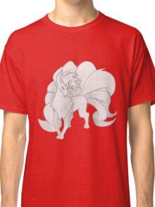 Ninetales - B&W by Derek Wheatley Classic T-Shirt