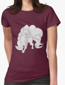 Ninetales - B&W by Derek Wheatley Womens Fitted T-Shirt