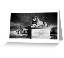 The Lion of The Chain Bridge - Budapest, Hungary Greeting Card