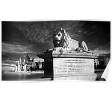 The Lion of The Chain Bridge - Budapest, Hungary Poster