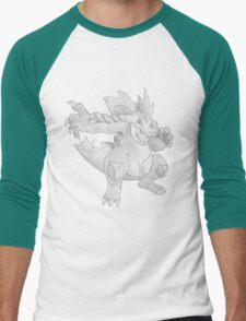 Feraligatr - B&W by Derek Wheatley T-Shirt