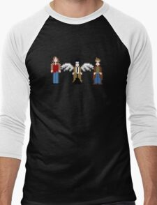 Supernatural Pixels - Sam, Castiel, & Dean Men's Baseball ¾ T-Shirt