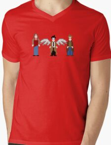 Supernatural Pixels - Sam, Castiel, & Dean Mens V-Neck T-Shirt