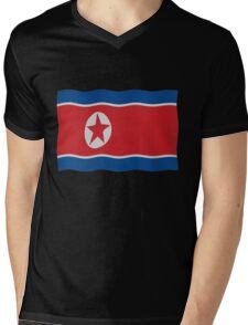 DPRK Flag Mens V-Neck T-Shirt